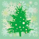 Royalty Free Photo of a Christmas Tree Background