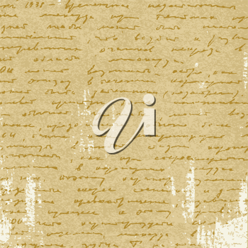 Royalty Free Clipart Image of a Page of Writing