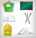 Royalty Free Clipart Image of Education Icons