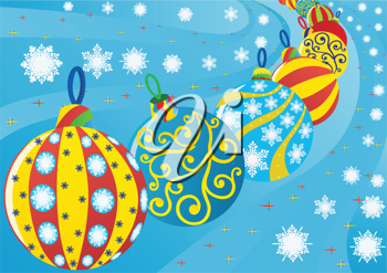 Royalty Free Clipart Image of Christmas Decorations