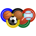 Balls for sports competitions and the game of basketball, soccer, rugby, baseball, volleyball. Illustration on white background.