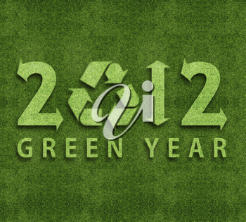 Royalty Free Photo of a 2012 Environmental Concept for a Green year