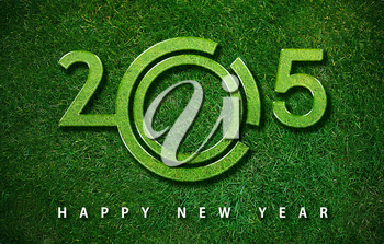 Happy new year 2015, with ecology concept for 2015 year, the same concept available for 2016 and 2017 year.