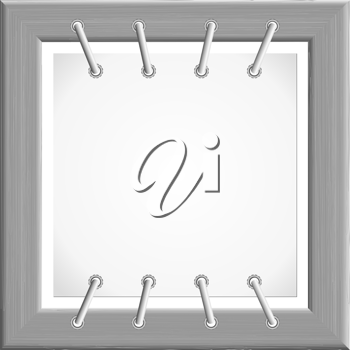 Royalty Free Clipart Image of a Metal Picture Frame