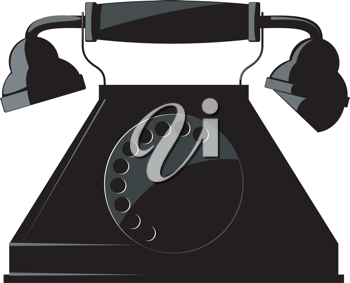 Illustration of the old phone. vector