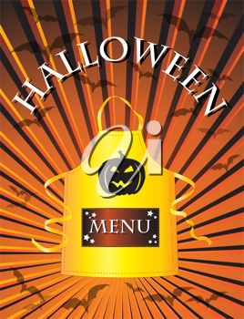 Royalty Free Clipart Image of a Halloween Menu