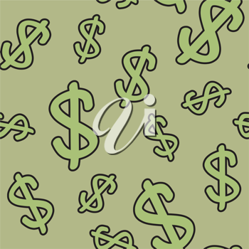 Royalty Free Clipart Image of a Dollar Sign Background