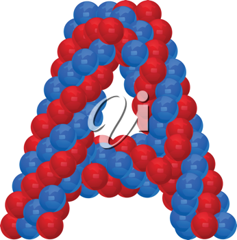 Royalty Free Clipart Image of a Balloon A