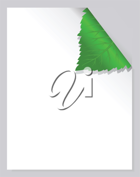 Royalty Free Clipart Image of a Leaf Page