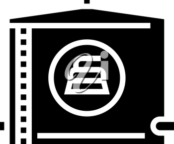 water tank cleaning glyph icon vector. water tank cleaning sign. isolated contour symbol black illustration