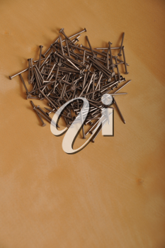 Royalty Free Photo of a Pile of Iron Nails