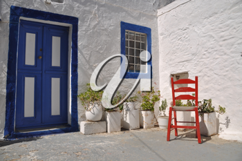 Royalty Free Photo of a Blue Door