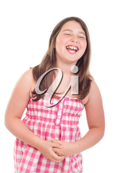 Royalty Free Photo of a Little Girl Laughing