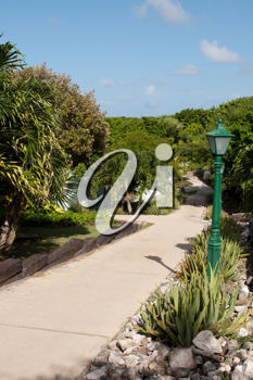 Royalty Free Photo of a Resort Pathway