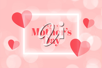 mothers day event card with hearts