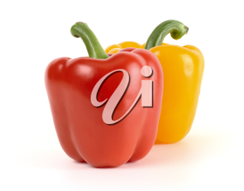 Royalty Free Photo of a Red and a Yellow Pepper