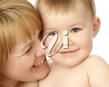 Royalty Free Photo of a Mother and ChildRoyalty Free Photo of a Mother and Child