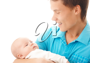 Royalty Free Photo of a Father and Baby