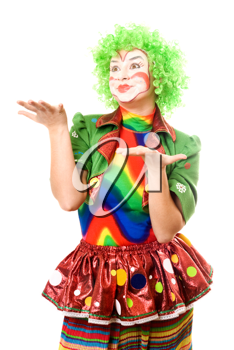 Royalty Free Photo of a Female Clown