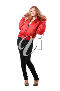 Royalty Free Photo of a Girl in a Red Jacket