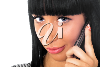Royalty Free Photo of a Woman on a Cellphone
