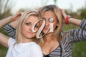 Royalty Free Photo of Two Women Outside