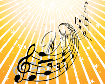 Royalty Free Clipart Image of a Musical Background