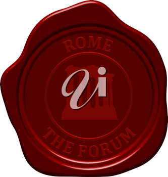The forum. Sealing wax stamp for design use.