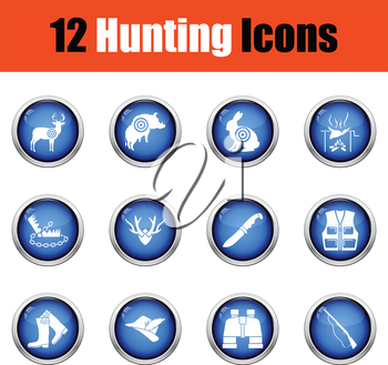 Set of painting icons.  Glossy button design. Vector illustration.