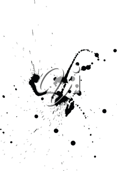 Abstract grunge blobs background. Black on white. Vector illustration.