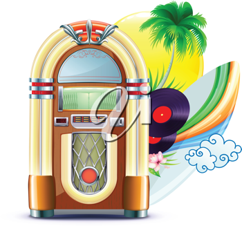 Royalty Free Clipart Image of a Jukebox