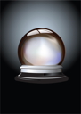 Royalty Free Clipart Image of a Crystal Ball