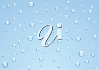 Royalty Free Clipart Image of Raindrops