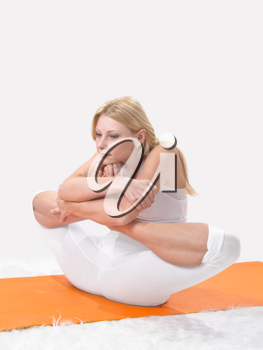 Royalty Free Photo of a Woman Doing Yoga