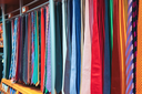 Large selection of neckties in the sale