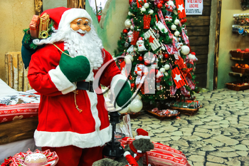 Taneto, Italy - December 27, 2014: Great Cristmas market Villaggio di Babbo Natale in the garden center Mondoverde. Taneto, Italy