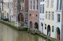 Utrecht, the Netherlands - February 13, 2016: Famous Oudegracht canal in the historic city centre
