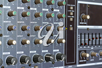 Royalty Free Photo of an Amp Panel