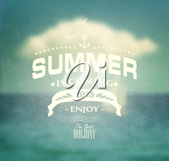 Summer Background And Title Inscription