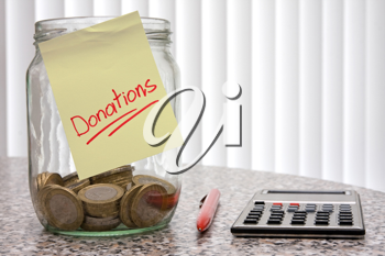Royalty Free Photo of a Donation Jar