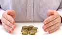 Royalty Free Photo of a Businessman With Coins