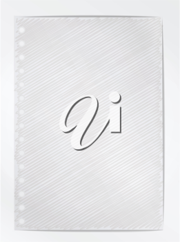 Royalty Free Clipart Image of a Blank Piece of Paper
