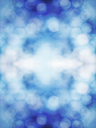 Snowy bokeh natural background