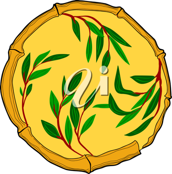 Royalty Free Clipart Image of a Bamboo Circle Design