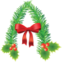 Royalty Free Clipart Image of a Christmas Decoration