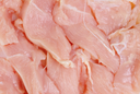 chicken meat sliced as food background