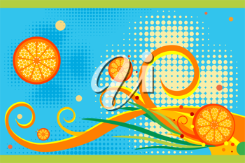 Royalty Free Clipart Image of a Citrus Background
