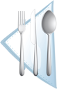 illustration of a cutlery on a white background