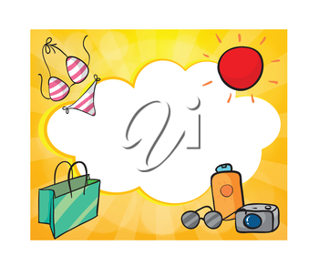 Illustration of an empty cloud template