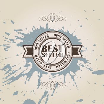 Royalty Free Clipart Image of a Best Seller Stamp